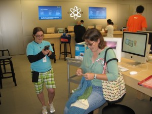 Crocheting the Apple store