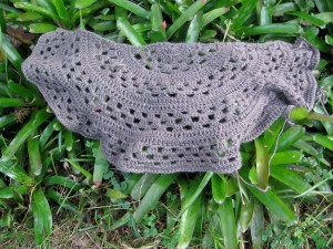 The Rhinebeck Shawl in it's unnatural environment.