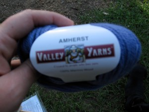 The yarn that was in the goodie bag.
