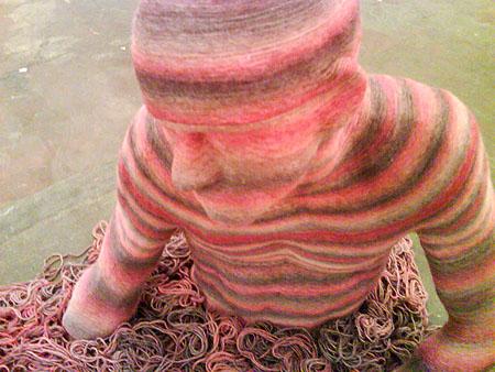 Self-striping yarn dude.
