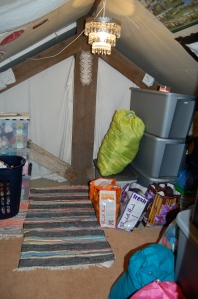 My attic yarn room...