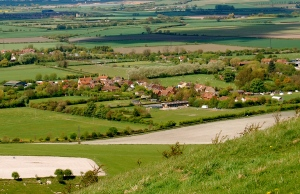 Ivinghoe Aston from above