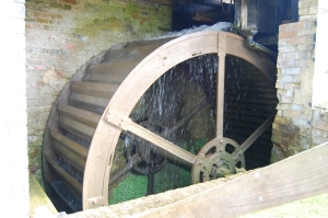 The actual watermill.