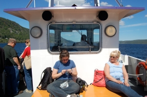 Here I am knitting on the boat (it was really good for this as it was much smoother than the bus had been)