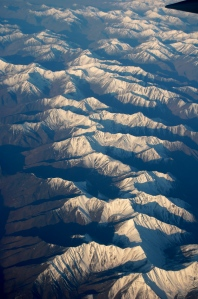 A mountain range that we flew over on the way to Prudoe Bay.