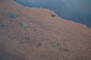 This is what permafrost tundra looks like from the sky.