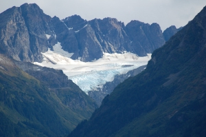 One of several glaciers that are visable from the town.