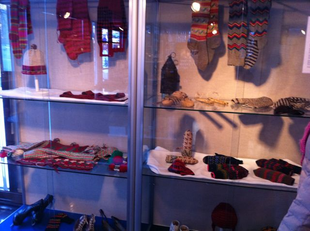 There were lots of knitted, crocheted and woven garments all through the museum.