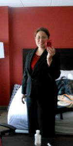 "I even had to go out and get a suit for this conference! Haven't had to look ""professional"" in a long time!"