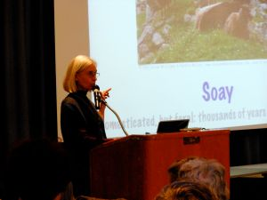 Deb giving her rare breeds talk.